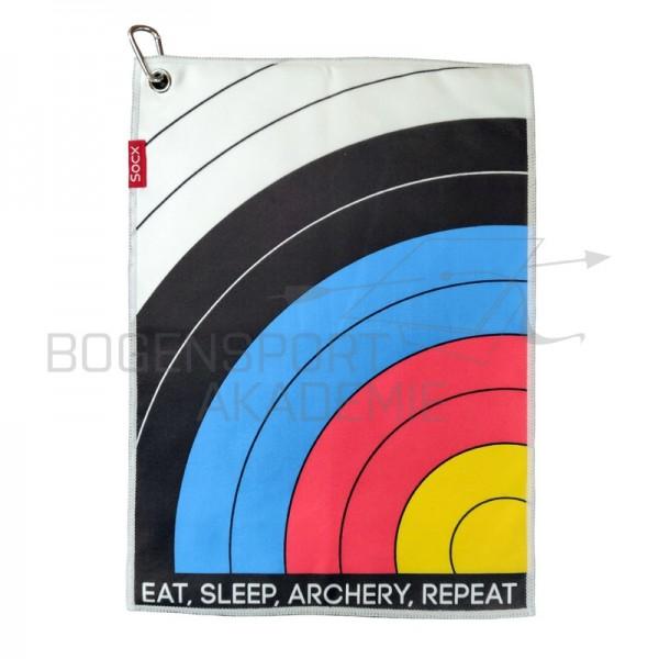 Socx Eat Sleep Archery Repeat Handtuch FITA