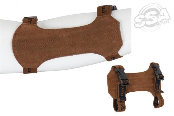 BuckTrail Leder Armschutz Natural Medium 18cm braun