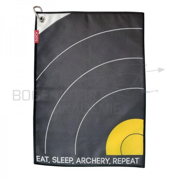 Socx Eat Sleep Archery Repeat Handtuch Field