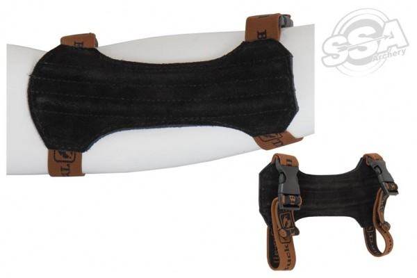 BuckTrail Leder Armschutz Natural Medium 18cm schwarz