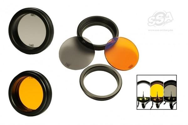 BowFinger 20/20 Scope Filter Kit Grau&Amber 40mm